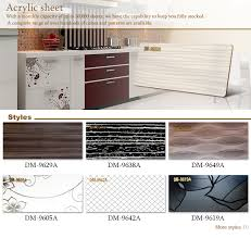 Acrylic Panels Cabinet Doors Natural Grain Textured Color Glossy 1mm Acrylic Sheet For Cabinet