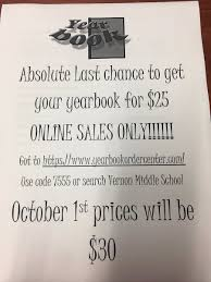 yearbook search online vernon middle school on order your yearbook online to