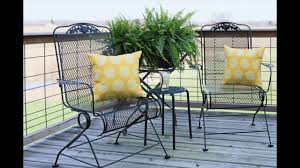 Refinish Iron Patio Furniture by How To Prep And Spray Paint A Metal Chair Youtube