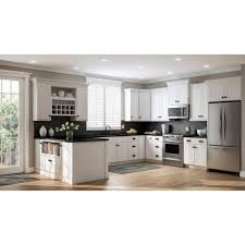 kitchen cabinet kits home depot shaker assembled 9x34 5x24 in base kitchen cabinet in satin white