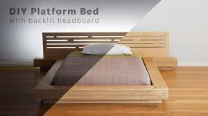 Diy Bed Platform Diy Modern Plywood Platform Bed Part 1 Frame Nightstand Build