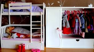 Bunk Beds With Wardrobe Baby Doll Bunk Bed Wardrobe Dolls Bedroom Closet Dress Up Baby