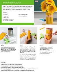 Pencil Vase Pencil Vase Tutorial Quill Com