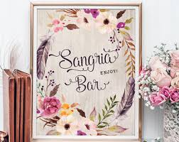Sangria Colored Wedding Decorations Sangria Wedding Etsy