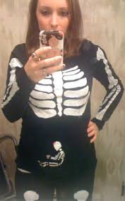 Skeleton Maternity Halloween Costumes Pregnant Skeleton Costume Halloween