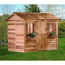 cedar shed log cabin cedar playhouse hayneedle