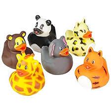 rhode island novelty 2 zoo animal rubber ducks 12