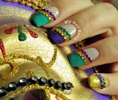 mardi gras nails u2013 my nail envy carnival nails mardi gras nails