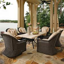Sedona Wicker Dining Set By Summer Classics Free Shipping - Summer classics outdoor furniture