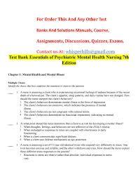 test bank questions for keltner psychiatric nursing 100 images