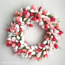 tulip wreath tulip wreath diy gorgeous and easy the how to