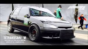 peugeot araba peugeot rallye 106 turbo drag project the best cars gr youtube
