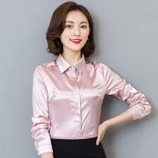 womens silk blouses symorhouse silk satin blouse button sleeve lapel