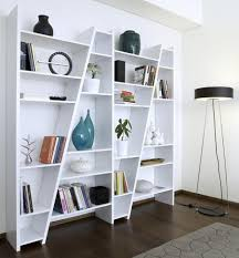 impressive modular shelving units on the wooden floor can add the