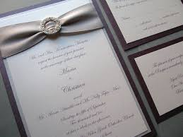 silver wedding invitations plum purple and silver wedding invitations elegance circle
