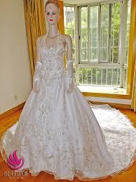 Custom Made Wedding Dresses Handmade Real Custom Made Cathedral Train Wedding Dress Rc112 Made