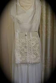 chic shabby bag cottage fabric bag ruffled lace fringe vintage