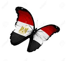 Image Of Flag Of Egypt Egyptian Flag Butterfly Flying Stock Photo Picture And Royalty