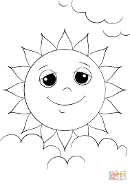 cartoon sun character coloring page free printable coloring pages