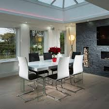 modern white gloss dining table chair interesting terrific high gloss dining room furniture ideas