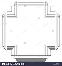 grayscale pattern with art deco frame vector illustration stock