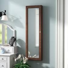 jewlery armoire mirror jewelry armoires you ll love wayfair