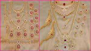 gold bridal set 1 gm gold bridal jewellery sets with price 1 gram gold jewellery