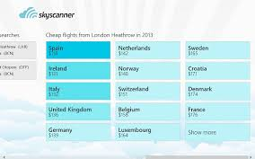 search for cheap flights with skyscanner for windows 8 windows 10