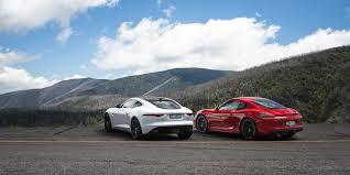 jaguar f type vs porsche 911 jaguar f type s coupe v porsche cayman gts comparison review