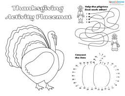 free printable thanksgiving placemats lovetoknow