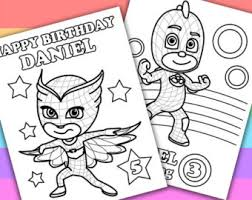 2 personalized coloring pages pj masks animation petitemonkey