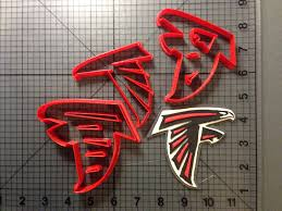 Atlanta Falcons Home Decor amazon com football team 101 cookie cutter set 2 inches
