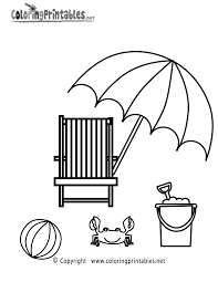 summer beach coloring free seasonal coloring printable