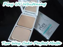 Bedak Pixy Compact Powder Finish review pixy uv whitening two way cake matte powder