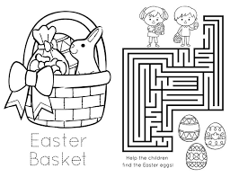 easter baskets printable photo coloring book easter coloring