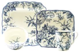 thanksgiving china sets 222 fifth adelaide 16 piece dinnerware set in blue service for 4