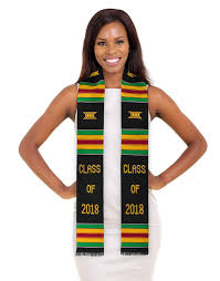 graduation stole class of 2018 kente stole authentic kente graduation stole