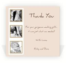 thank you card for wedding gift wedding thank you note exles template business