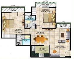2d color floor plans furnished home furniture