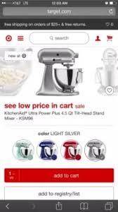 Kitchenaid Stand Mixer Sale by Kitchenaid Ultra Power Plus 4 5 Qt Tilt Head Stand Mixer Ksm96