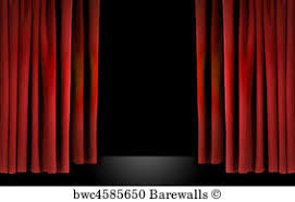 Stage With Curtains 1 688 Old Theater Curtains Background Posters And Art Prints