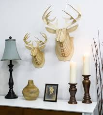 bucky wood deer head home decor u0026 lighting cardboard safari