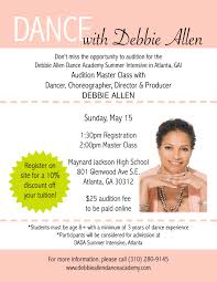 Seeking What S Your Deal Debbie Allen Seeking Great Dancers In Atlanta May 15 Radio Tv Talk
