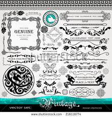 vintage design elements ornaments dividers stock vector