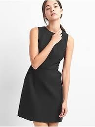 Long Sleeve Black Fit And Flare Dress Women U0027s Clothing Women U0027s Clothing Dresses U0026 Jumpsuits Gap