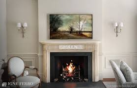 living room classic fireplace