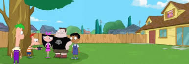 Phineas And Ferb Backyard Beach Game Image Candace Watches Kids In The Backyard Panoramic Jpg