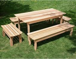 creekvine designs cedar family picnic table set hayneedle