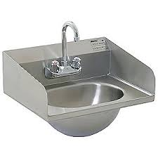 stainless steel hand sink eagle group hand sink wall 18 7 8 in l 14 3 4 in w 4avg6 hsa 10