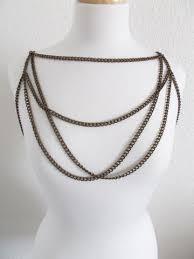 Draped Body Chain Body Jewelry U2013 The Katz Meow Creations